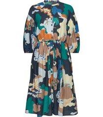 india, 861 landscape viscose jurk knielengte stine goya