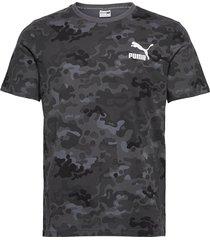 classics graphics aop logo tee t-shirts short-sleeved grå puma