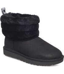 w fluff mini quilted shoes boots ankle boots ankle boots flat heel svart ugg