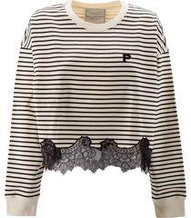 philosophy di lorenzo serafini cotton logo patch to the front sweatshirt