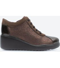 zapato casual mujer stonefly z1b8 café