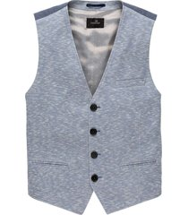 blazer gilet pique blues chambray blue