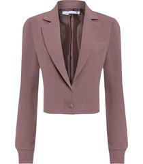 casaqueto feminino crepe - marrom