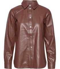 sc-beckie långärmad skjorta brun soyaconcept
