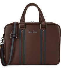 dresden i striped leather briefcase