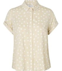 majan ss shirt aop 9942 bluser d