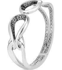 'asli classic chain' silver hinged cuff