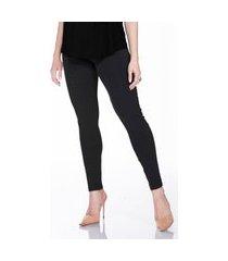 calça legging megadose moda gestante justa ao corpo preto