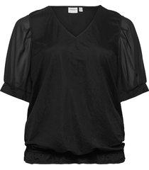 jrjahlina 2/4 sleeve blouse - s blouses short-sleeved svart junarose