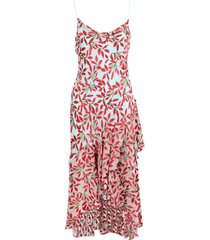 alice+olivia ginger viscose dress