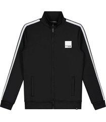 nik & nik vest kevin track jacket zwart