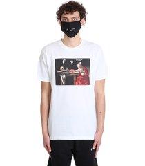 off-white caravaggio slim t-shirt in white cotton