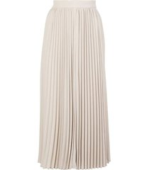 champagne pleated midi skirt