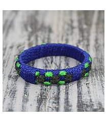 bangle bracelet, 'green ananse web' (ghana)