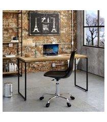 mesa de escritório studio carvalho 135 cm