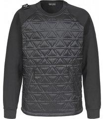 polygon quilt tech fleece crew neck jacket