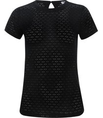 camiseta mujer en blonda color negro, talla 14