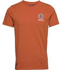 brando tee t-shirts short-sleeved orange morris