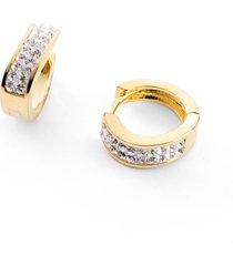 orecchini a cerchio con cristalli swarovski® (oro) - bpc bonprix collection