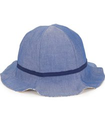 familiar denim sun hat - blue