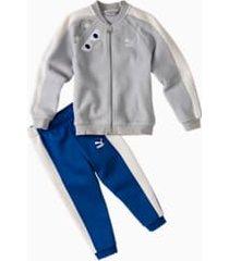 monster kids' jog suit, grijs, maat 62   puma
