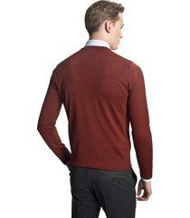 sweter vetica półgolf ceglasty