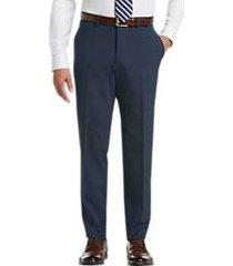 pronto uomo blue modern fit dress slacks