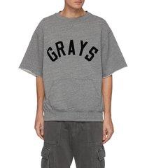 grays slogan kangaroo pocket triblend fleece sweatshirt