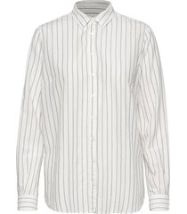 kayla fine stripe shirt overhemd met lange mouwen wit mos mosh