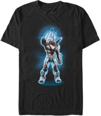 marvel men's avengers endgame war machine armor suit, short sleeve t-shirt