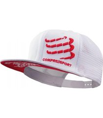 boné trucker compressport cap branco .