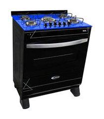 fogão a gás clarice veritá 5 bocas automático mesa azul/preto bivolt