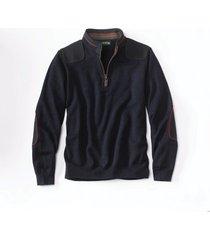 merino upton quarter-zip sweater, navy, 2xl