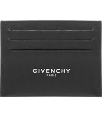 givenchy logo leather card holder