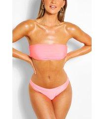 mix & match brazilian v front bikini brief, coral