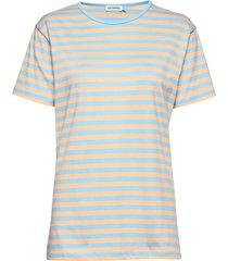 lyhythiha shirt t-shirts & tops short-sleeved blå marimekko