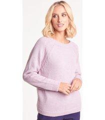liliowy sweter z alpaką