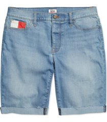 tommy hilfiger adaptive women's bermuda shorts with velcro & magnetic closures