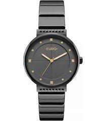 relógio feminino euro eu2035yob/4p slim aço