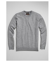 reserve collection tailored fit merino wool crew neck men's sweater - big & tall