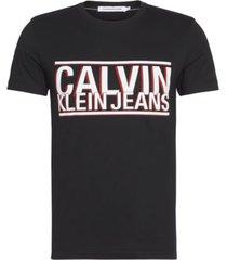 camiseta slim con logo negro calvin klein