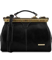 tuscany leather tl10038 michelangelo - borsa medico in pelle nero