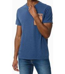 camiseta mc ckj masc city gallery - azul médio - pp