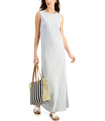 style & co cotton heathered maxi dress, created for macy's