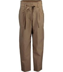 crinkle pleat paperbag belted pant