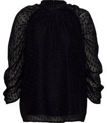 izzy blouse blouse lange mouwen zwart birgitte herskind
