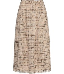 chita 85c skirt knälång kjol beige andiata