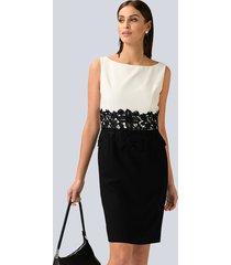 jurk alba moda zwart::wit