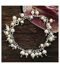 pearl charm bracelet, 'new empress' (india)