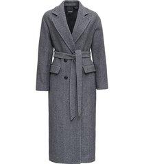pinko giacomo long coat in wool blend